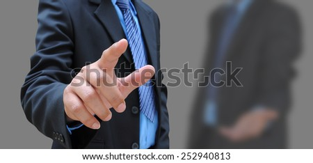 hand of businessman and the friend background