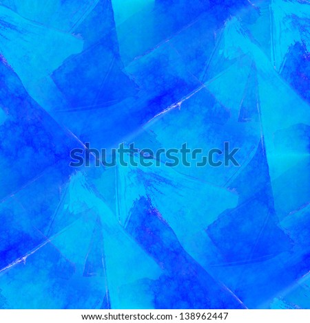hand paint background blue art seamless wallpaper watercolor abstract avant-garde - stock photo