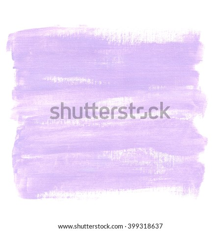Hand painted acrylic background. Abstract texture. Purple texture. Canvas.  - stock photo