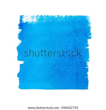 Hand painted of watercolor brush strokes background on white paper. - stock photo