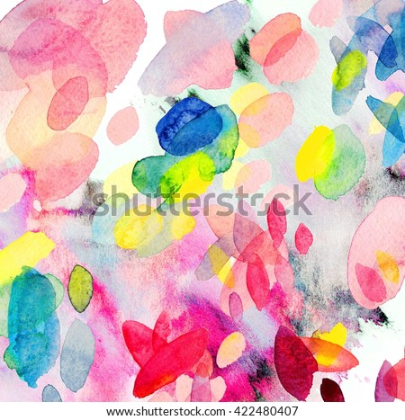 Hand painted watercolor background. Abstract painting. Watercolor wash. summer colors - stock photo