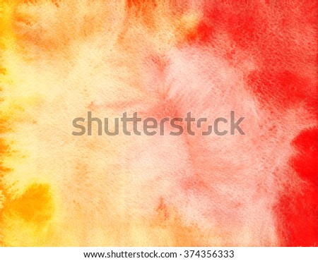 Hand painted watercolor background. Abstract texture. Bright background. - stock photo
