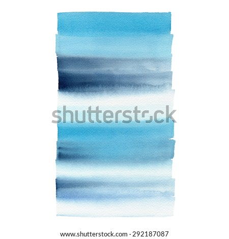 Hand painted watercolor background. Watercolor wash. - stock photo