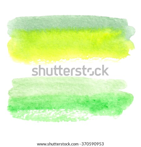 Hand painted watercolor shape - stock photo