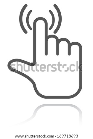 hand pointer icon - stock photo