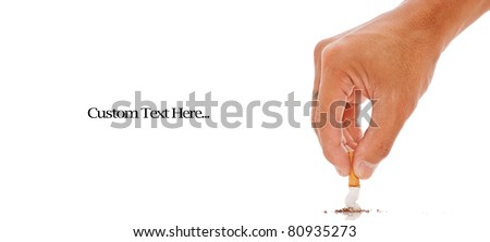 Hand Putting Out a Cigarette - stock photo