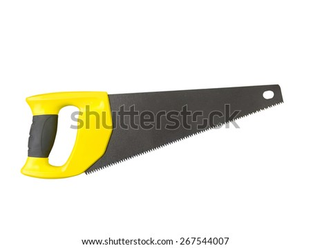 Hand saw isolated on a white background - stock photo