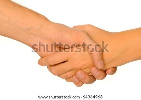 hand shake - stock photo