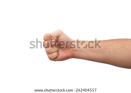hand showing gestures - stock photo