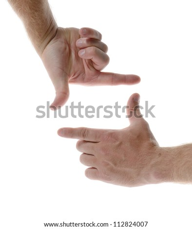 Hand symbol of taking picture - stock photo