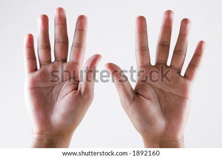 hand-ten - stock photo