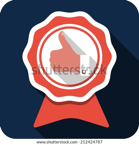 Hand Thumbs Up - Best Choice Labels  - stock photo
