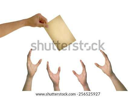Hand to give And a match - stock photo