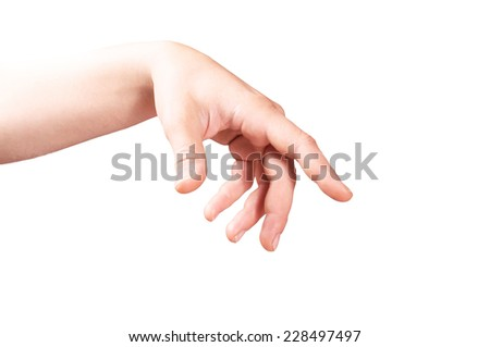 Hand touching, hand expressing - stock photo