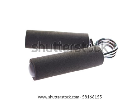 Hand trainer with steel spring - stock photo
