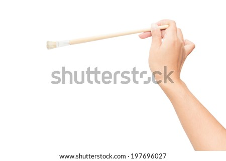 Hand with a brush - stock photo