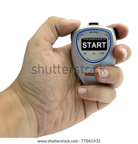 hand with a clock - stock photo