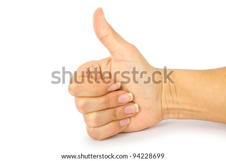 hand with clipping paths - stock photo
