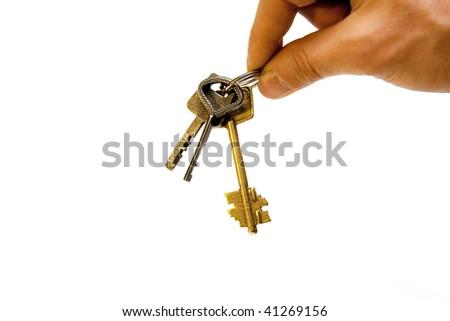Hand with keys - stock photo