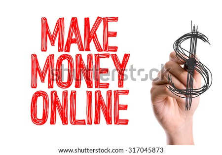 Hand with marker writing: Make Money Online - stock photo