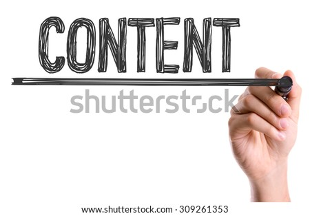 Hand with marker writing the word Content - stock photo