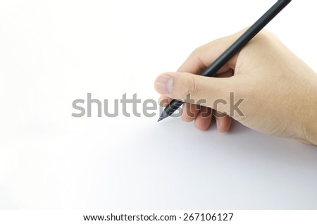 hand writing - stock photo