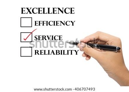 Hand writing a excellence concept.  - stock photo