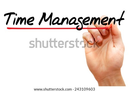 Hand writing Time Management with marker, business concept - stock photo