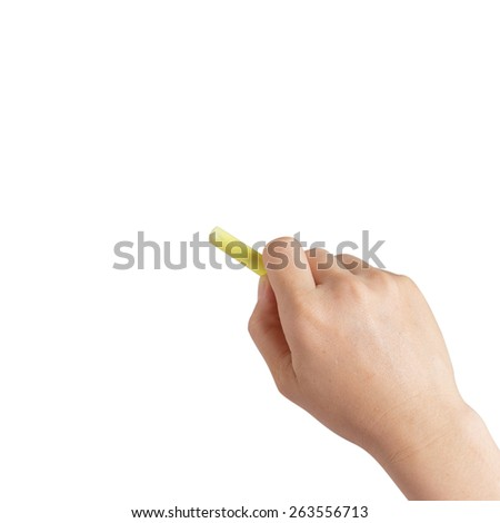 Hand writing with chalk - stock photo