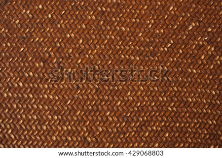 handcraft bamboo woven texture for background - stock photo