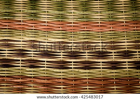 Handcraft pattern weave texture natural background for design,Pattern craft,Pattern detail closeup,Pattern basket for decor,Vintage pattern design - stock photo