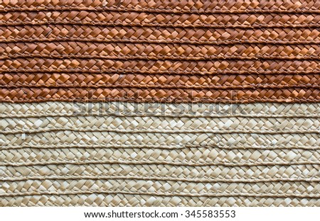 handcraft rattan woven texture background - stock photo