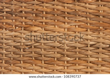 handcraft weave texture natural wicker, texture basket, Natural rattan background - stock photo