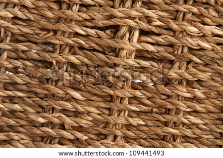 handcraft weave texture natural wicker, texture basket, Natural rattan background - stock photo