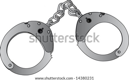 handcuffs - stock photo