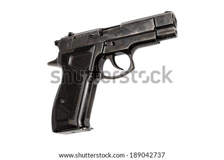 handgun  isolate - stock photo