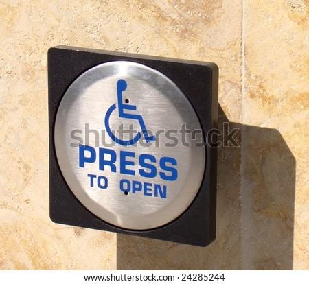 Handicap Entrance Sign - stock photo
