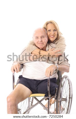 handicap hugs - stock photo