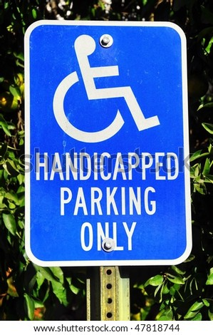 Handicapped Parking Only - stock photo