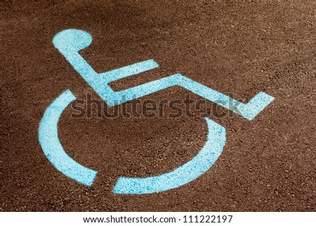 Handicapped Wheelchair Sign - stock photo