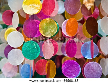 Handicrafts produced by the shell wall - stock photo