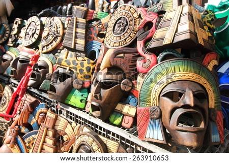 handicrafts tourist cancun mexico - stock photo