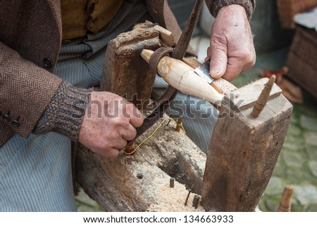 handicraftsman - stock photo
