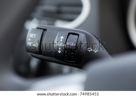 Handle of the car computer control - stock photo