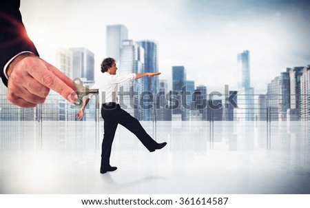 Handling employee - stock photo