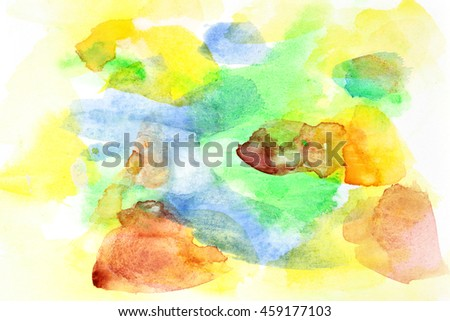 Handmade abstract watercolor background - stock photo
