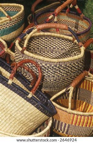 Handmade baskets 1 - stock photo