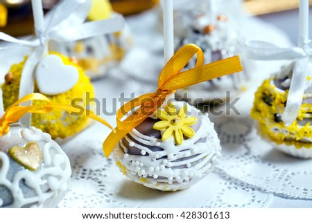 Handmade Cake Pops - stock photo
