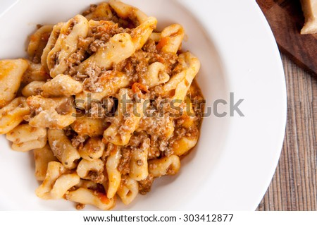 Pasta With Rich Meat Sauce Recipes — Dishmaps
