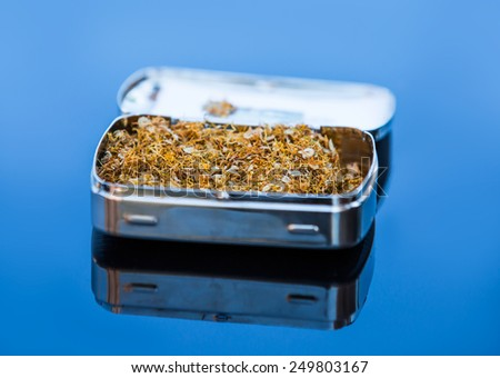 Handmade cigarettes with tobacco  - stock photo